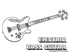 Who Else Wants Electric Guitar Coloring Pages Print Out These Bass Rock Country Instruments And Gear Too