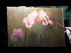 Pink Orchid Painting Demo 12 of 13