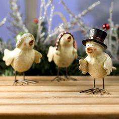 Little Caroling Christmas Birds