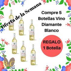 ¡¡ NUEVA #OFERTA DE LA SEMANA !!  La OFERTA comprende 5 Botellas de Vino Vino DIAMANTE Blanco Joven 75 cl. cada una + REGALO 1 Botella de Vino Vino DIAMANTE Blanco Joven 75 cl. http://tienda.bottleandcan.es/es/  Válida hasta el Domingo 23/04/2017 o hasta Fin de Existencias.  #Tiendaonline #bottleandcan #gourmet #Granada #wine #winelover #regalos #regalo #botella #botellas #vinodiamante