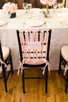Blush Pink wedding decorations! Simple and lovely.. #blush #pink #inspiration