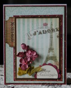 Card made with My Mind's Eye papers
