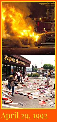 On this day in American History, Rioting erupted in Los Angeles after a jury acquitted four Los Angeles police officers of almost all charges in the videotaped beating of Rodney King. Preview our children's history DVD click on pin