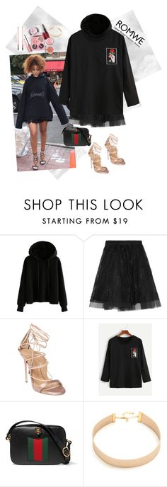 """""""Good girl gone bad"""" by versastyle-sel ❤ liked on Polyvore featuring Maje, Dsquared2, Gucci and Lacey Ryan"""