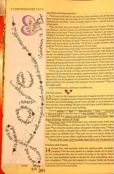 lots of stuff on here. Easy Bible Art Journaling Journey: 1 Corinthians 13 (May … lots of stuff on here…. Faith Bible, My Bible, Bible Art, Bible Scriptures, Bible Study Journal, Scripture Study, Art Journaling, Prayer Journals, Scripture Journal