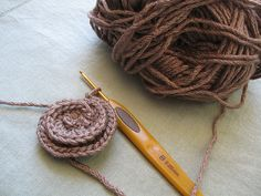 Proccess of crocheting freeform cuff | I started with a spir… | Flickr