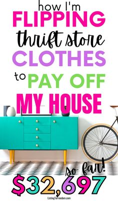Selling Used Clothes, Selling On Ebay, Make Money Fast, Make Money From Home, Pay Off Mortgage Early, Thrift Store Outfits, Saving For Retirement, Baby Steps, Business For Kids