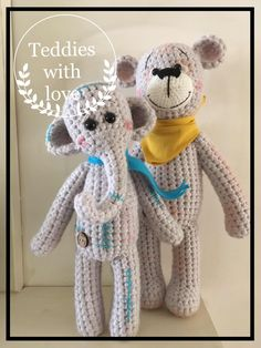Teddies with love: Misie z miłością . / Teddies with love. Crochet Teddy, Crochet Toys, Farm Animals, Teddy Bear, Inspiration, Etsy, Dioramas, Amigurumi, Bebe