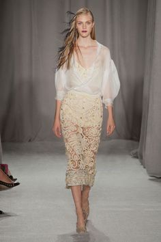 Lace, Earthy, Jeweled; Marchesa Spring 2014