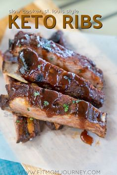 I turned to my slow cooker to create a Keto Rib recipe that mimicks slow-smoked ribs with a sweet yet spicy crust, that absolutely fall off the bone and are incredibly easy to make - not to mention Keto, Low Carb, Sugar-Free and a THM:S. #keto #ketorecip
