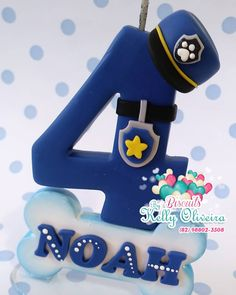 Fondant Numbers, Fondant Letters, Paw Patrol Birthday Cake, Paw Patrol Party, Cake Topper Tutorial, Fondant Tutorial, Paw Patrol Cake Toppers, Number Cake Toppers, Fondant Decorations