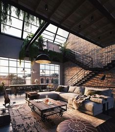 Urban Industrial Decor To A Stunning Place Wohnen im I. - Urban Industrial Decor To A Stunning Place Wohnen im Industrial Chic! Dream Home Design, Modern House Design, My Dream Home, Cool House Designs, Modern Houses, Dream Life, Simple House Interior Design, Interior Design Living Room Warm, Luxury Houses