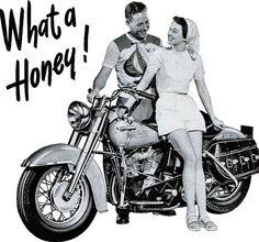 Vintage Harley Davidson, 1951 Advertisement   motorcycles   vintage   classic