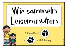 Leiseminuten, Reward System – Teaching material in the subject Interdisciplinary – xeepicpic. I School, School Classroom, Primary School, Classroom Management Styles, Classroom Organisation, Organisation Ideas, Reward System, Library Of Congress, Teaching Materials