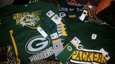 My team gear baby green baby packers