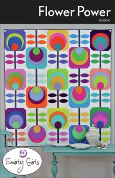 Flower Power Quilt Pattern - by Swirly Girl Designs