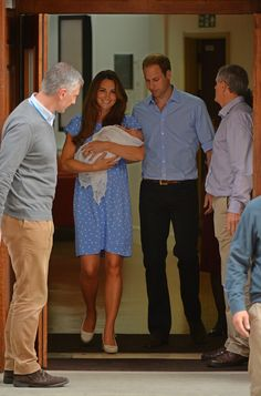 The First Glimpse: Prince George.The world watched as the doors to the Lindo Wing opened to reveal the new family of three, prompting loud cheers from the waiting crowds. George was just a day old when he made his debut.