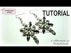 DIY Tutorial Orecchini con superduo - Artemisia - Collaborazione Perline & Gioielli - YouTube