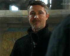 Aidan Gillen, just being Petyr for the moment. Bahahaha the eyebrows.