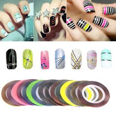 30pcs Rolls Striping Tapes Colorful Line Nail Stickers DIY Art Kit Manicaure Beauty Decorations For