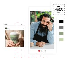 Creador de logos | Crear gratis un diseño de logo único | Tailor Brands Online Logo, Unique Logo, Logo Maker, Free Logo, Create A Logo, My Coffee, Perfect Match, Logo Templates, Logan