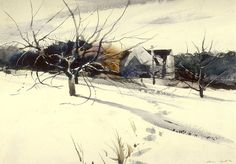 "Andrew Wyeth-""My Father's Studio"" watercolor 1940 | by nkimadams"