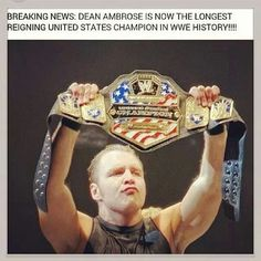 Longest reigning United States Champion in WWE history!!