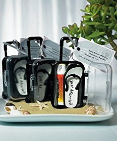 Mini Modern Trolley Suitcase Favour Box Pack of 6: Amazon.co.uk: Kitchen & Home