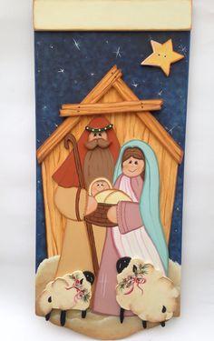 Christmas 2019, Christmas Holidays, Christmas Crafts, Christmas Ornaments, Nativity Ornaments, Christmas Nativity Scene, Pallet Crafts, Wood Crafts, Kirby Character