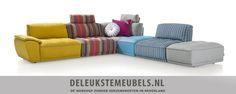 Elementenbank Udine van Henders & Hazel. Een speelse bank met enorm veel mogelijkheden.. Doordat het losse elementen zijn kun je steeds weer een andere opstelling creëren, gaaf! http://www.deleukstemeubels.nl/nl/udine-elementenbank/g6/p2514/
