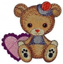 Baby Valentine.Valentine Bear free baby free machine embroidery designs pes format