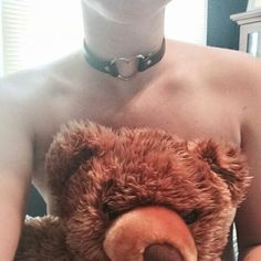 grunge, tumblr, pale, aesthetic, site model, boy, collar, gay, homosexual, teddy bear, kink, daddy
