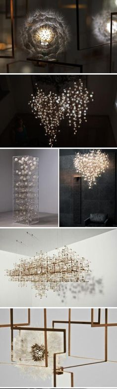 Dandelion Fragile Future -- beautiful lights and chandeliers -- by Studio Drift