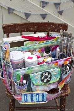 art bag whimsical travel art journal
