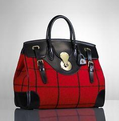 Ralph Lauren windowpane Ricky bag