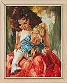 Charles Roka olja Mother And Child, Disney Characters, Fictional Characters, Snow White, Paintings, Disney Princess, Children, Art, Mother Son