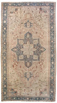 Antique Heriz Rug    Hand-knotted in Persia  Circa 1920