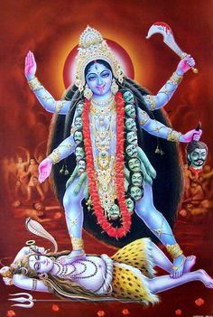 Kali Durga Kali, Kali Hindu, Hindu Art, Maa Kali Images, Durga Images, Gaia Goddess, Mother Goddess, Shiva Linga, Shiva Shakti