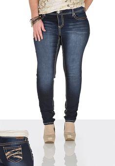 Denim Flex ™ Sequin & lurex Embellished Jegging
