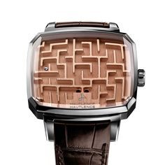 """Designed as """"an entirely essential yet fundamentally useless object"""" the Playgrond Labyrinth watch by Hautlence is a game of maze ball (CHF 12,000). Discover more jewels and watches for him with a playful side: http://www.thejewelleryeditor.com/watches/watches-toys-for-boys/ #style #fashion"""