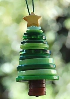 button tree - fun activity for the kids to make