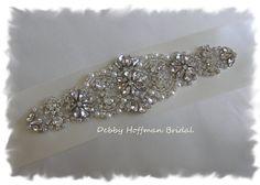 Sale ~ Rhinestone Crystal Pearl Bridal Sash, Pearl Rhinestone Wedding Sash, No. 4060S2.25, Wedding Accessories, Jeweled Pearl Belt, Sash
