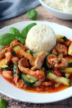 Kurczak z cukinią – Smaki na talerzu Kung Pao Chicken, Good Food, Food And Drink, Cooking, Ethnic Recipes, Kitchen, Healthy Food, Brewing, Cuisine