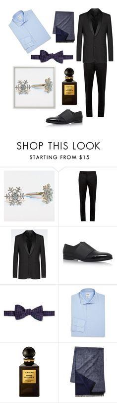 """Sparkle for the Holidays"" by dayna-marie ❤ liked on Polyvore featuring Maison Margiela, Jimmy Choo, Brooks Brothers, Armani Collezioni, Tom Ford, men's fashion and menswear"