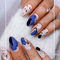 Can t get enough of these nail designs Credits nail sunny Nail Art Designs Videos, Nail Art Videos, Nail Designs, French Nails, Cute Nails, My Nails, Picasso Nails, Nail Drawing, Stylish Nails
