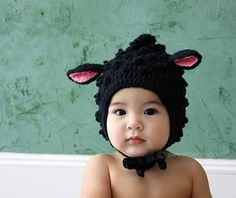 The cutest hat ! Little Lamb for Him (Organic Wool)