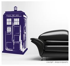Dr Who's Tardis vinyl wall decal sticker by circlewallart on Etsy, £18.99
