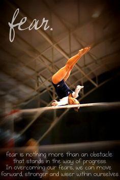 Fear in gymnastics sport quotes, sports sayings, rhythmic gymnastics, volle All About Gymnastics, Sport Gymnastics, Olympic Gymnastics, Gymnastics Sayings, Gymnastics Facts, Gymnastics Lessons, Gymnastics Problems, Gymnastics Stuff, Swimmer Problems