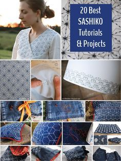 20 Sashiko Tutorials & Projects