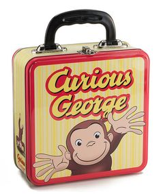 Loving this 'Curious George' Square Tin Lunch Box on #zulily! #zulilyfinds